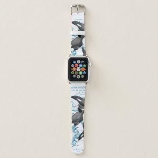 Correa Para Apple Watch Azul antiguo de la familia de las ballenas de la