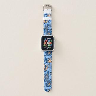 Correa Para Apple Watch Azul de cielo floral tropical hawaiano del batik