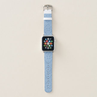 Correa Para Apple Watch Azul ligero hawaiano del dril de algodón del Tapa