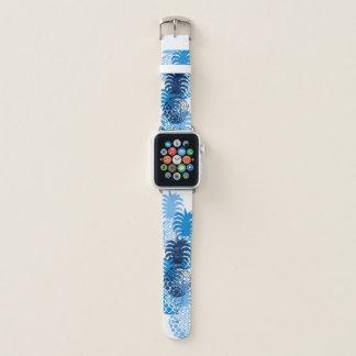 Correa Para Apple Watch Azules añiles tropicales hawaianos de la piña de