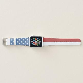 Correa Para Apple Watch Bandera americana descolorada