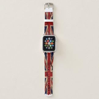 Correa Para Apple Watch Bandera sucia BRITÁNICA de Union Jack Británicos