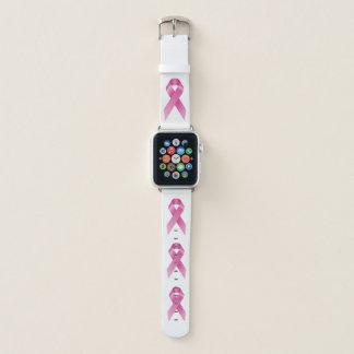 Correa Para Apple Watch Blanco de octubre del mes de la conciencia del