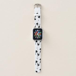 Correa Para Apple Watch Blanco del negro de la roca de las guitarras una