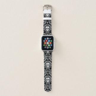 Correa Para Apple Watch Blanco muerto del modelo del cráneo del azúcar del