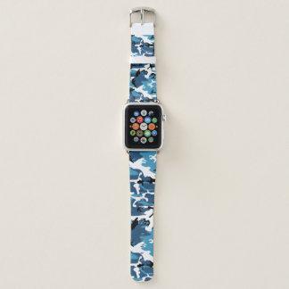 Correa Para Apple Watch Camo azul