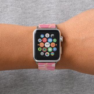 Correa Para Apple Watch Camuflaje rosado. Camo su