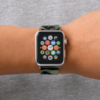 Correa Para Apple Watch Camuflaje verde. Camo su