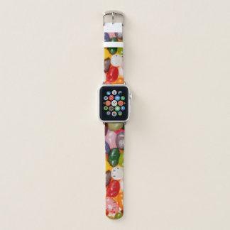 Correa Para Apple Watch Caramelo dulce colorido fresco de las habas de