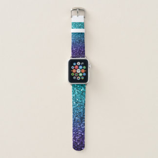 Correa Para Apple Watch Chispas azules del purpurina de Ombre de la