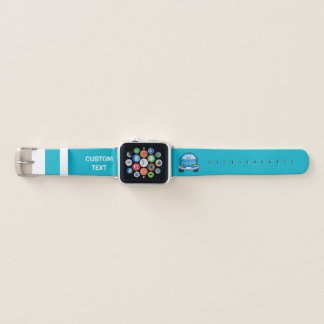 Correa Para Apple Watch Coche azul del dibujo animado