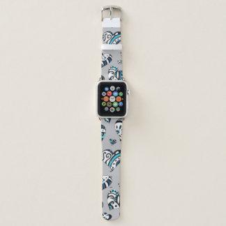 Correa Para Apple Watch corazones del garabato del gris azul