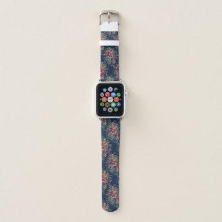 Correa Para Apple Watch Damasco azul clásico del color de los rosas del