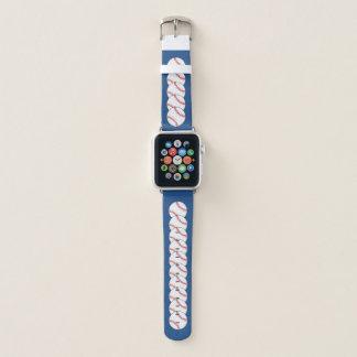 Correa Para Apple Watch Deportes azules blancos rojos del béisbol