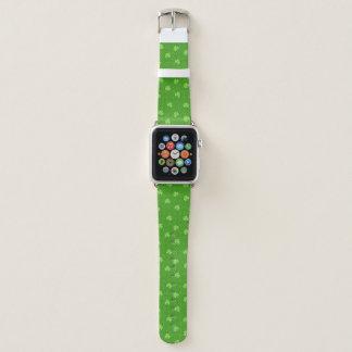 Correa Para Apple Watch Día verde de Patricks del santo del modelo del