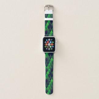 Correa Para Apple Watch Diamantes ligeros y verde oscuro