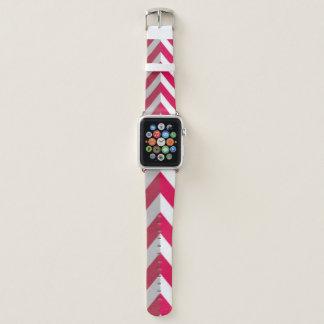 Correa Para Apple Watch Diseño blanco rojo de la impresión del modelo de