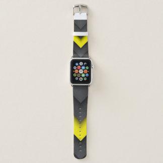 Correa Para Apple Watch Diseño negro y amarillo de la impresión del modelo