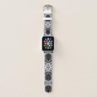 Correa Para Apple Watch Diseño tribal nervioso salvaje • Negro y blanco