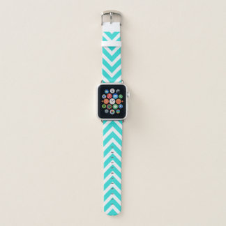 Correa Para Apple Watch El azul de océano Chevron raya el modelo