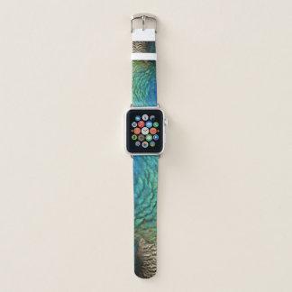 Correa Para Apple Watch El pavo real empluma diseño abstracto colorido de