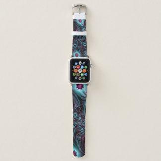 Correa Para Apple Watch En el arte abstracto rosado azul del fractal de la