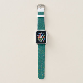 Correa Para Apple Watch Espacio elegante del confeti - verde verde azulado