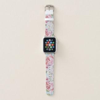 Correa Para Apple Watch Estampado de flores de moda del verde azul del