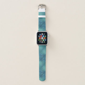 Correa Para Apple Watch Estampado de flores verde y azul