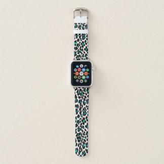 Correa Para Apple Watch Estampado leopardo verde azulado del verde azul