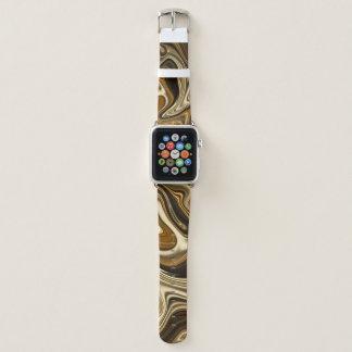 Correa Para Apple Watch Estilo de mármol magnífico - marrón caliente