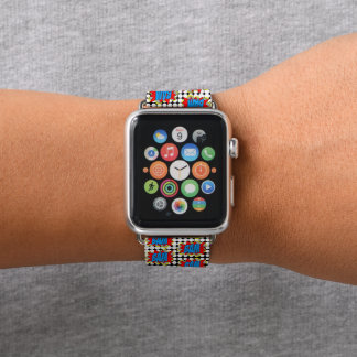 Correa Para Apple Watch ¡Estilo fresco BAM del arte pop del cómic del