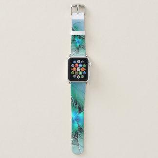 Correa Para Apple Watch Extracto con arte azul, moderno del fractal