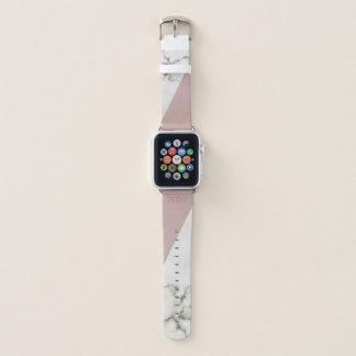Correa Para Apple Watch Falso se ruboriza el mármol de cuero
