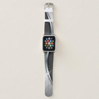 Correa Para Apple Watch Fibra de carbono y metal cepillado 4