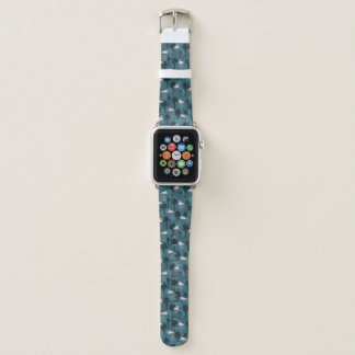 Correa Para Apple Watch Flamencos en colores pastel en trullo