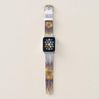 Correa Para Apple Watch Flor colorida luminosa, fractal moderno abstracto