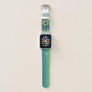 Correa Para Apple Watch Flor moderna del verde azul de la fantasía del