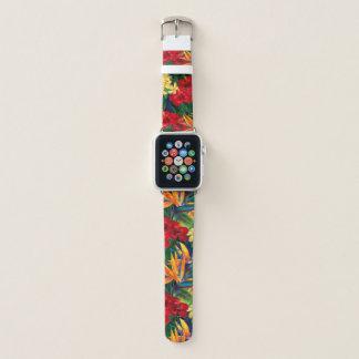 Correa Para Apple Watch Floral hawaiano del paraíso tropical