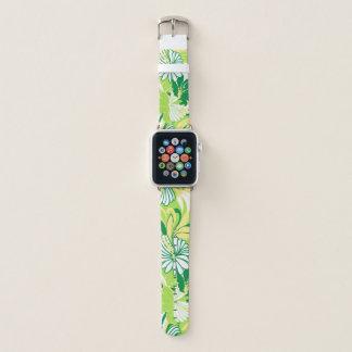 Correa Para Apple Watch Floral tropical hawaiano de la selva del hibisco -