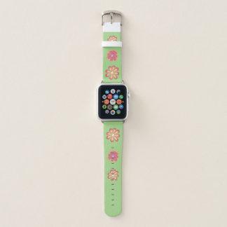 Correa Para Apple Watch flores 3D en la cal