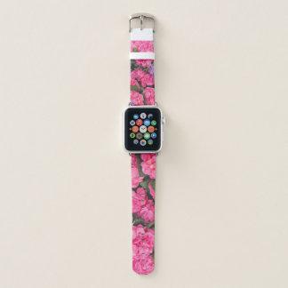 Correa Para Apple Watch Flores de los Hydrangeas de rosado y de la púrpura