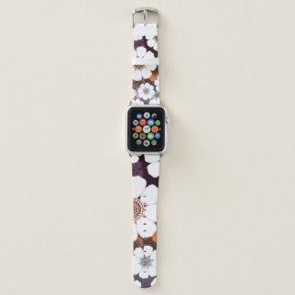 Correa Para Apple Watch Flower power púrpura enrrollado