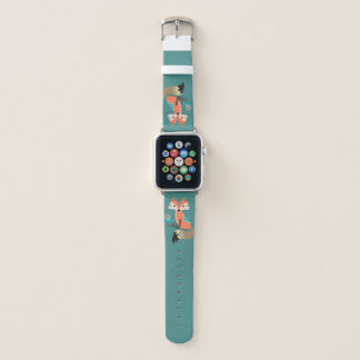 Correa Para Apple Watch Fox tribal con la pluma en trullo