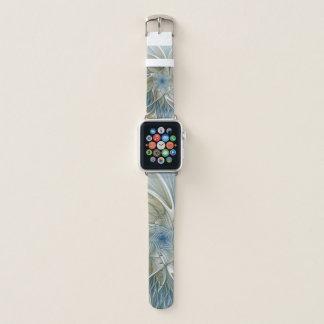 Correa Para Apple Watch Fractal de color caqui azul del extracto ideal