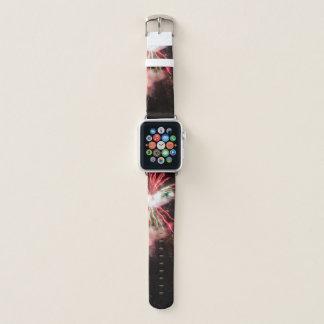 Correa Para Apple Watch Fuegos artificiales rojos y verdes espectaculares