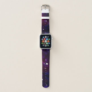 Correa Para Apple Watch Galaxia púrpura azul de medianoche