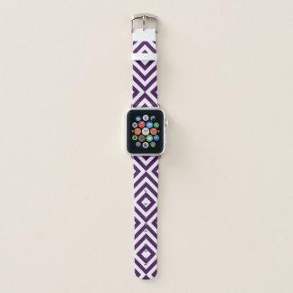 Correa Para Apple Watch Galones púrpuras y blancos geométricos intrépidos,
