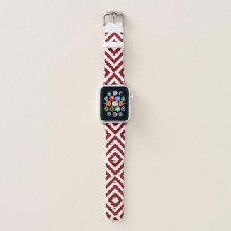 Correa Para Apple Watch Galones rojos y blancos geométricos intrépidos,