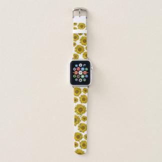 Correa Para Apple Watch Girasoles dispersados amarillo
